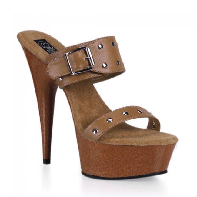 kožené boty na platformě Delight-602-9-tle - Velikost 35