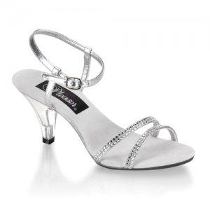 dámské stříbrné sandálky Belle-316-srs