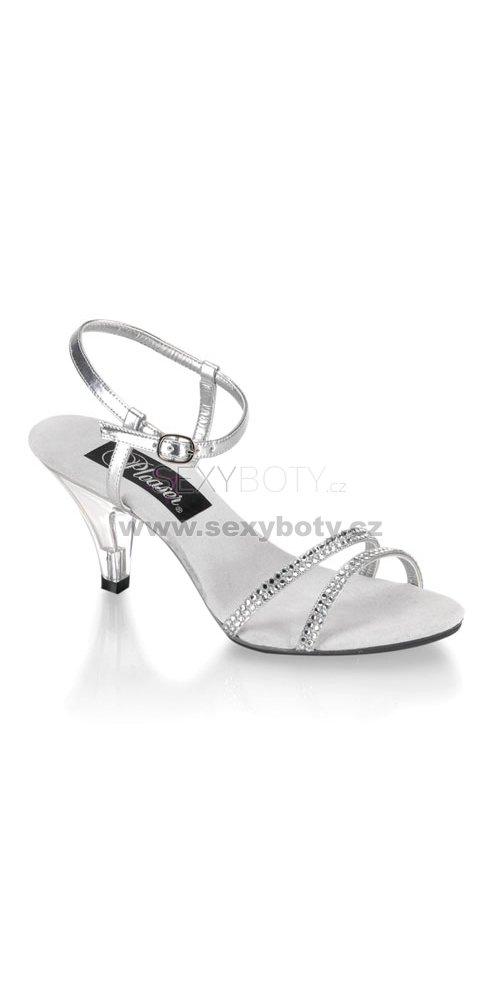 08dbf612a20 dámské stříbrné sandálky Belle-316-srs - Velikost 36   SEXYBOTY.cz