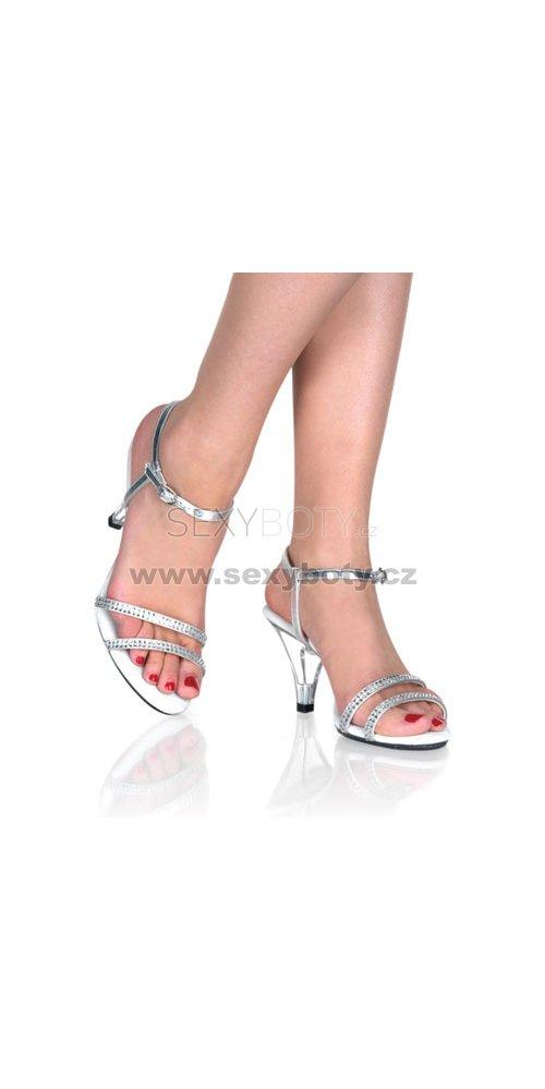 dámské stříbrné sandálky Belle-316-srs - Velikost 37   SEXYBOTY.cz 7f9cbaece4