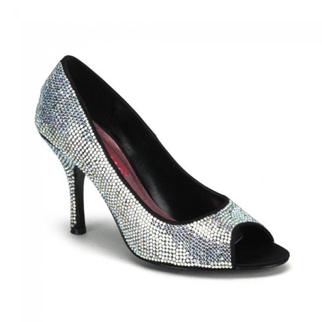 luxusní stříbrné lodičky Violette-03r-iri - Velikost 40