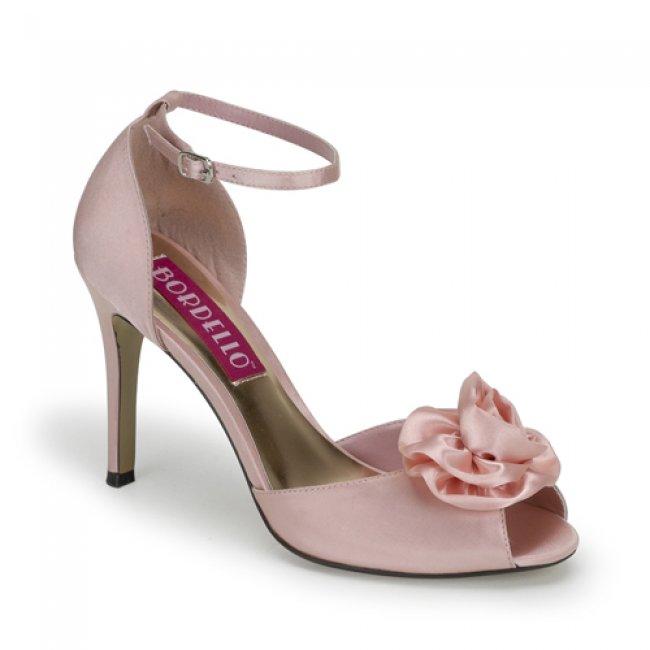 růžové sandály Rosa-02-BP-SAT - Velikost 38