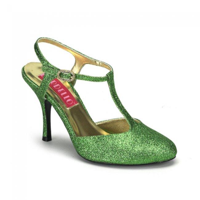 luxusní zelené sandálky Violette-12G-GRN - Velikost 37