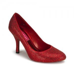 luxusní červené lodičky Violette-14R-R