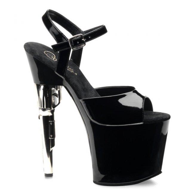 vysoké sandály na platformě Bondgirl-709-b - Velikost 38
