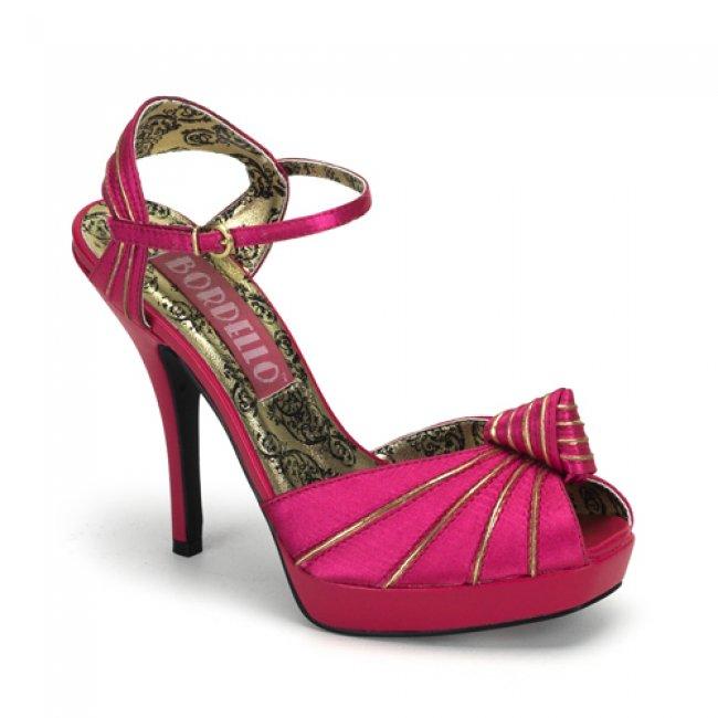 růžové sandály na platformě Preen-16-FUS-SAT - Velikost 37