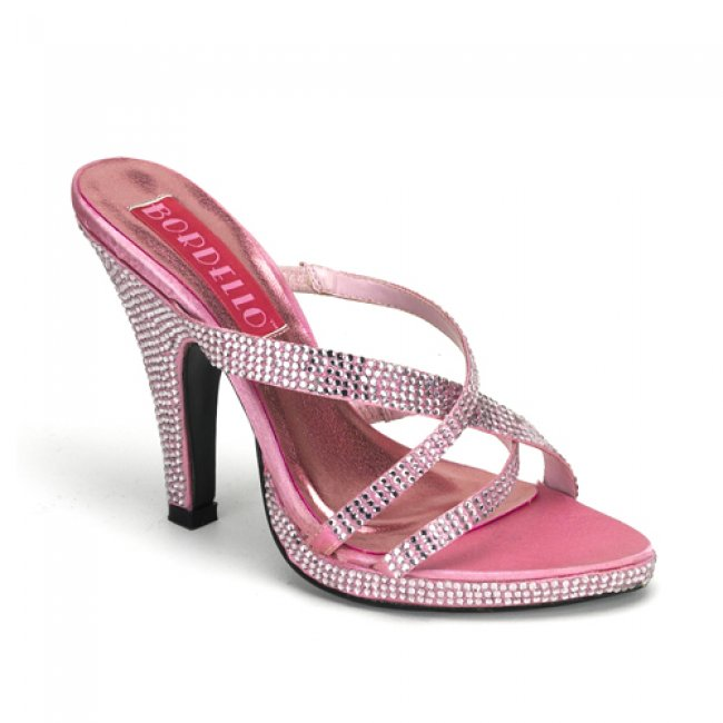 růžové luxusní pantofle Siren-02R-BP - Velikost 37