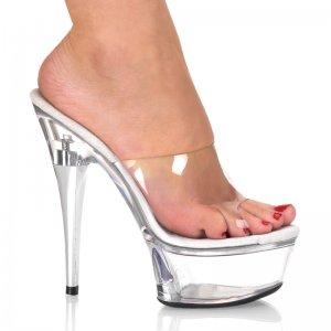 pantofle na platformě Captiva-601clr