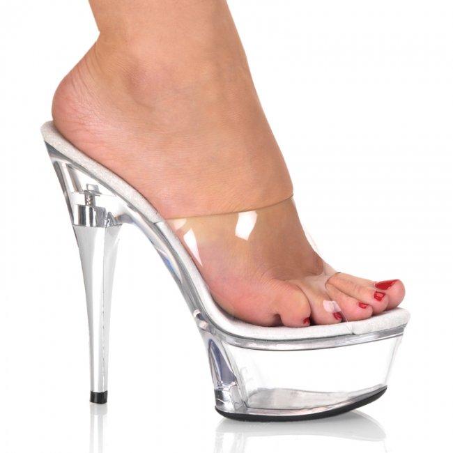 pantofle na platformě Captiva-601clr - Velikost 40