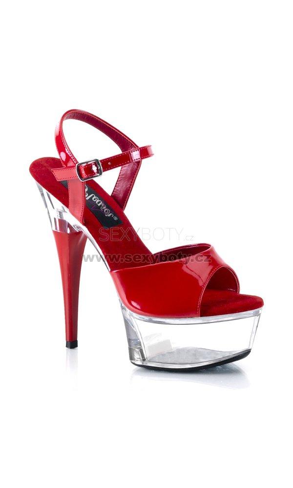 1e7f92bf54c červené sandály na podpatku Captiva-609rc - Velikost 35   SEXYBOTY.cz