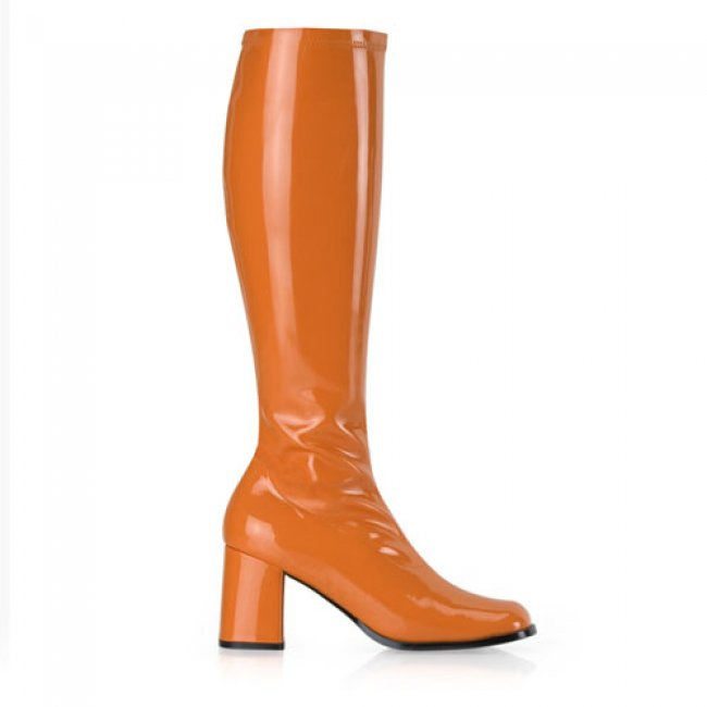 dámské oranžové kozačky Gogo-300OG - Velikost 36
