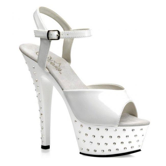 bílé sandálky STARDUST-609-W - Velikost 36