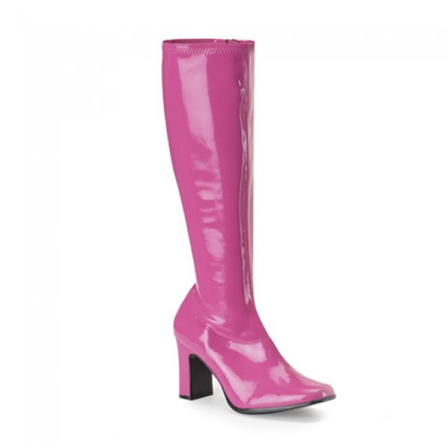 růžové dámské kozačky Kiki-350-HP - Velikost 38