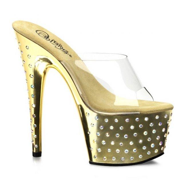 luxusní zlaté pantofle STARDUST-701-CGCH - Velikost 40