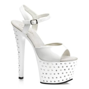 bílé vysoké sandále STARDUST-709-W