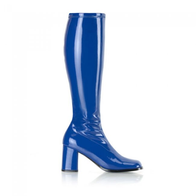 modré dámské kozačky Gogo-300NU - Velikost 42