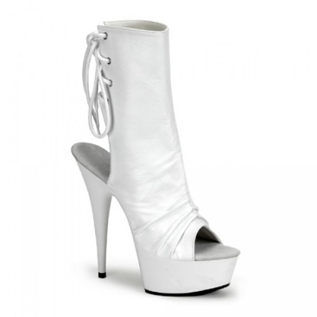 bílé kotníkové kozačky Delight-1018-wpu - Velikost 35