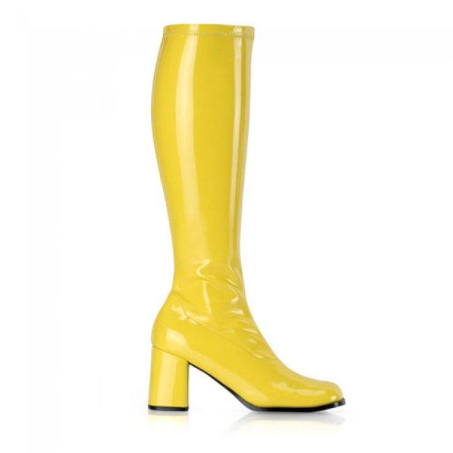 žluté dámské kozačky Gogo-300YL - Velikost 45