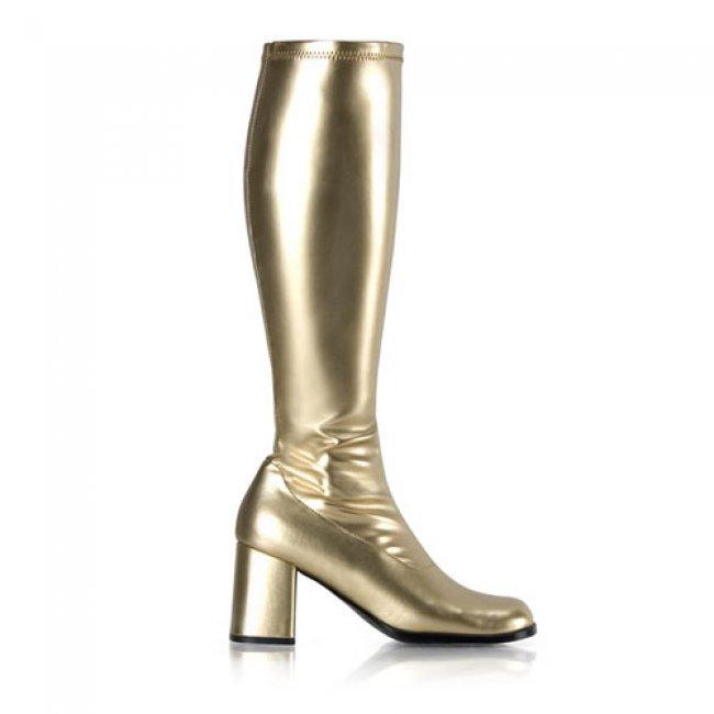 zlaté dámské kozačky Gogo-300GPU - Velikost 39