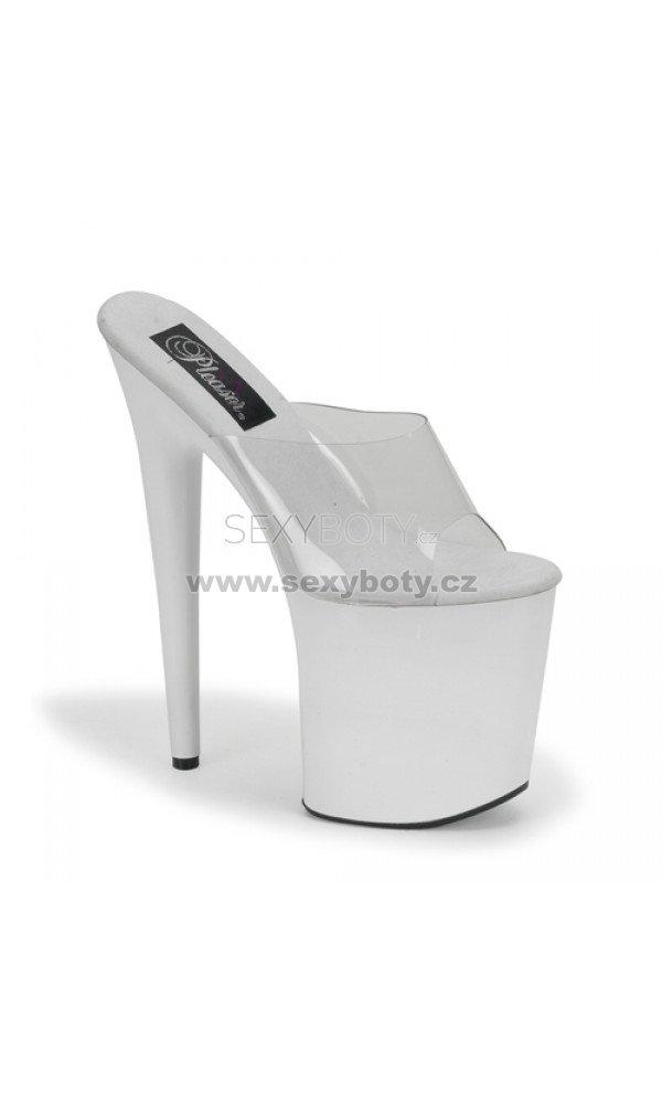 bílé vysoké pantofle FLAMINGO-801-C-W - Velikost 39   SEXYBOTY.cz eb92e11478