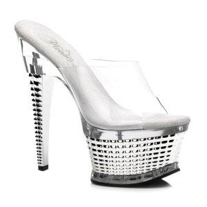 dámské stříbrné pantofle Illusion-651-csch