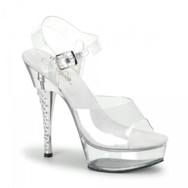 průhledné sandále DIAMOND-608-CM - Velikost 36