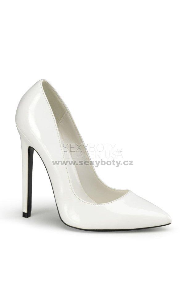 bílé lodičky na vysokém podpatku Sexy-20-w - Velikost 43   SEXYBOTY.cz 279c1fa968