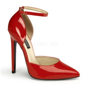 červené lodičky na vysokém podpatku Sexy-21-r