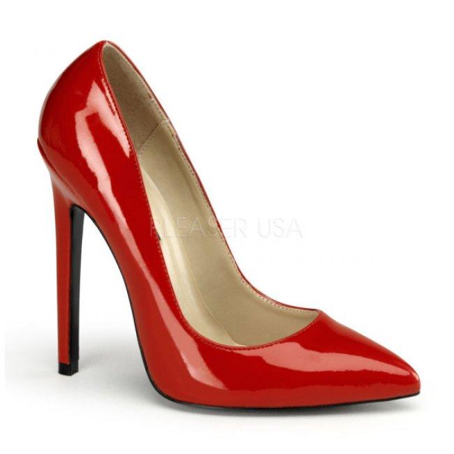 červené lodičky na vysokém podpatku Sexy-20-r - Velikost 36