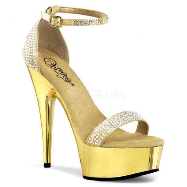 luxusní zlaté sandále Delight-617rs-gs - Velikost 35