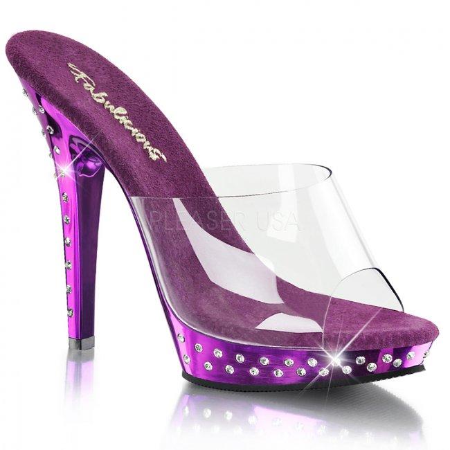 fialové pantofle Lip-101sdt-cppch - Velikost 38