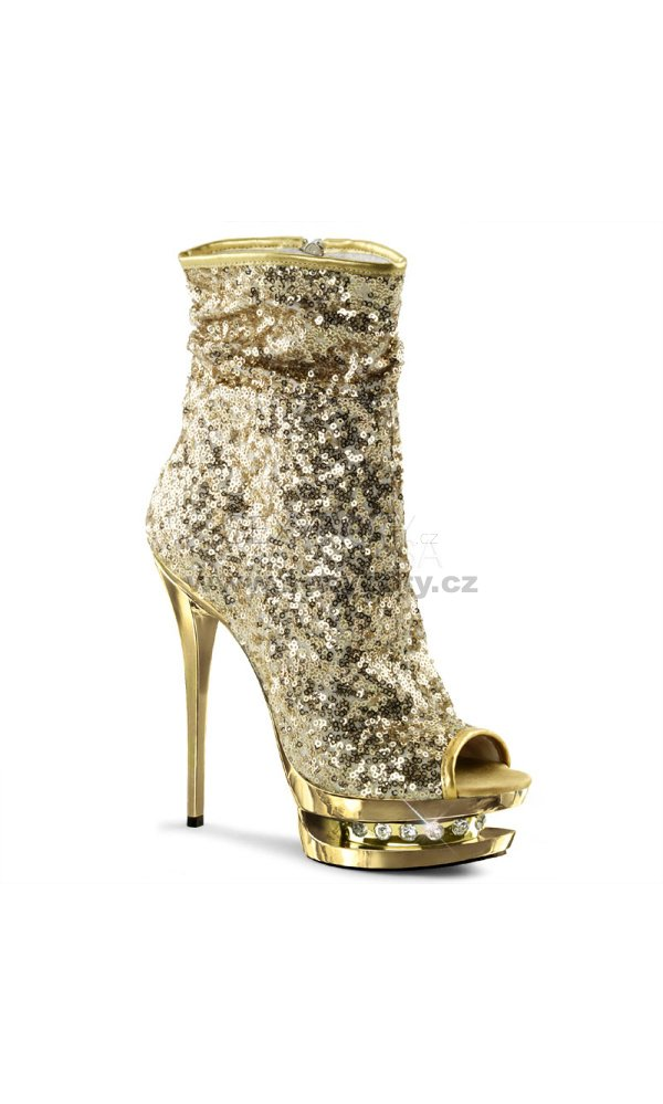 348575847a85 zlaté kotníkové kozačky Blondie-r-1008-gsq - Velikost 35   SEXYBOTY.cz