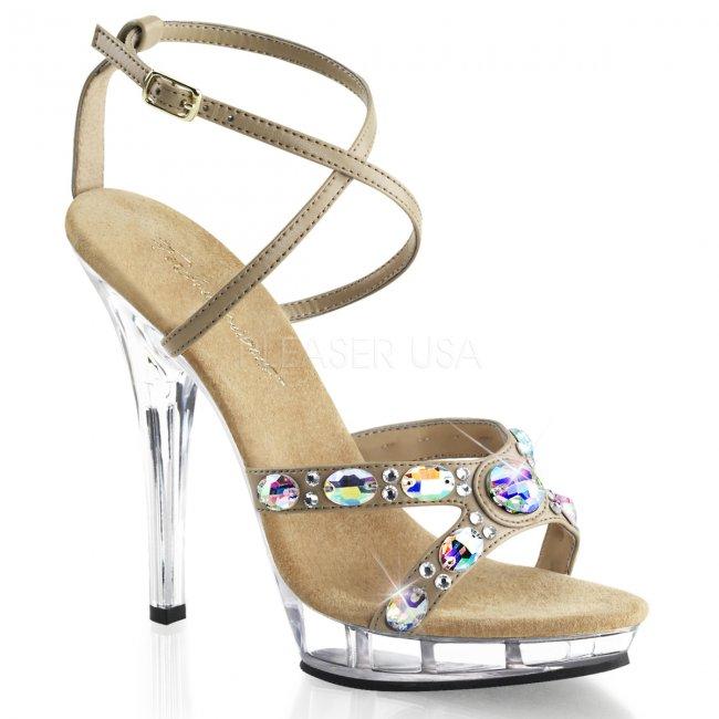 luxusní společenské sandály Lip-145-tppuc - Velikost 39