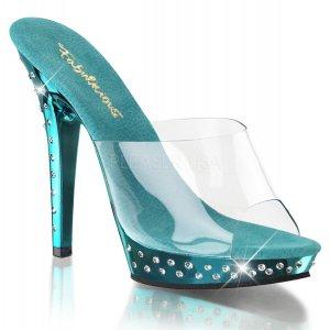 tyrkysové dámské pantofle Lip-101sdt-ctech