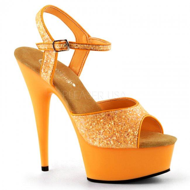 oranžové sandále s UV efektem Delight-609uvg-nor - Velikost 38
