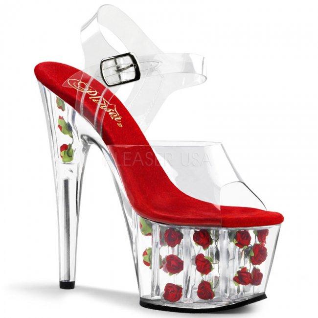 sandále s růžičkami Adore-708fl-cr - Velikost 40