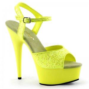 žluté sandále s UV efektem Delight-609uvg-nyl