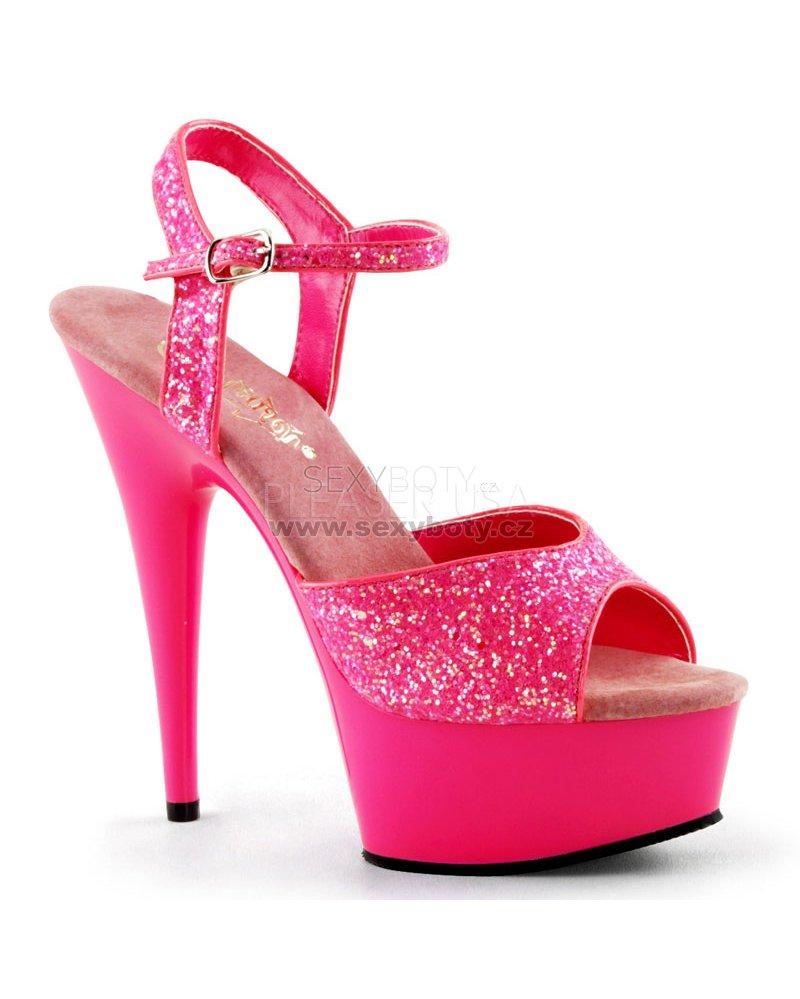 be0c18e4125f sandále s UV efektem Delight-609uvg-nhp - Velikost 43   SEXYBOTY.cz