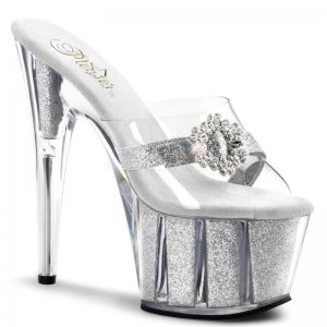 vysoké stříbrné nazouváky Adore-701hg-csg