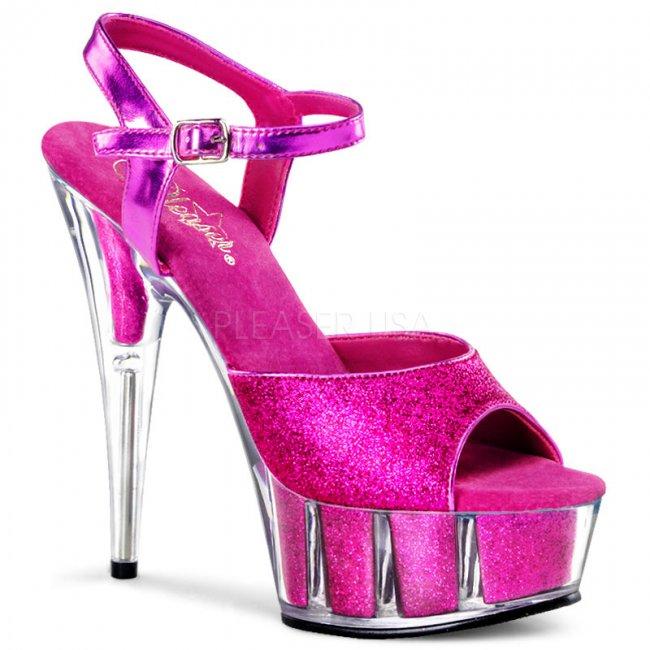 boty s růžovými glitry Delight-609-5g-hp - Velikost 40