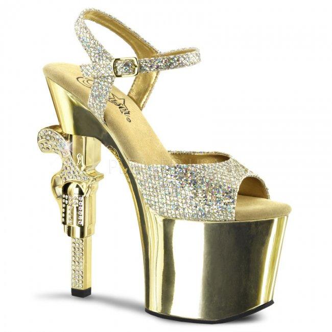 boty na vysokém podpatku Revolver-709g-gg - Velikost 41