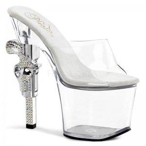 pantofle na podpatku Revolver-701-c