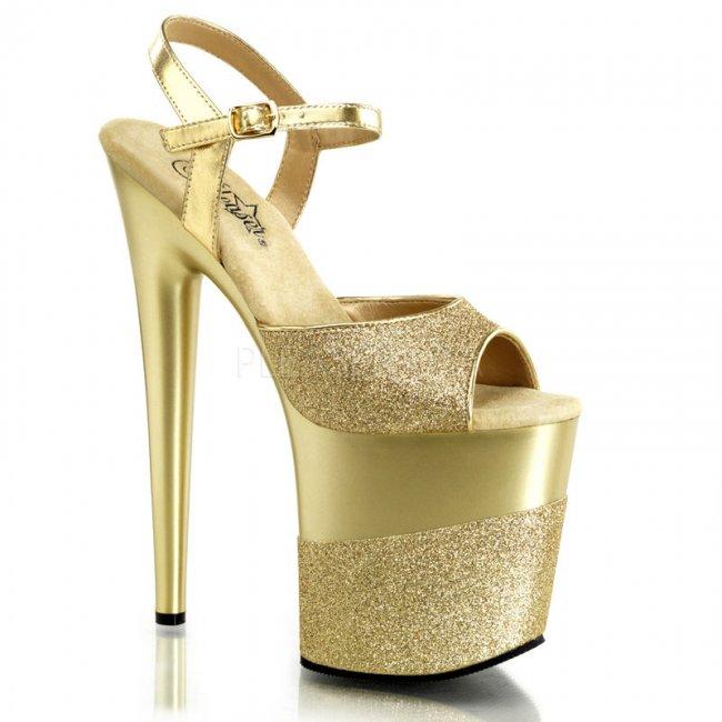 luxusní extra vysoké sandále Flamingo-809-2g-g - Velikost 39
