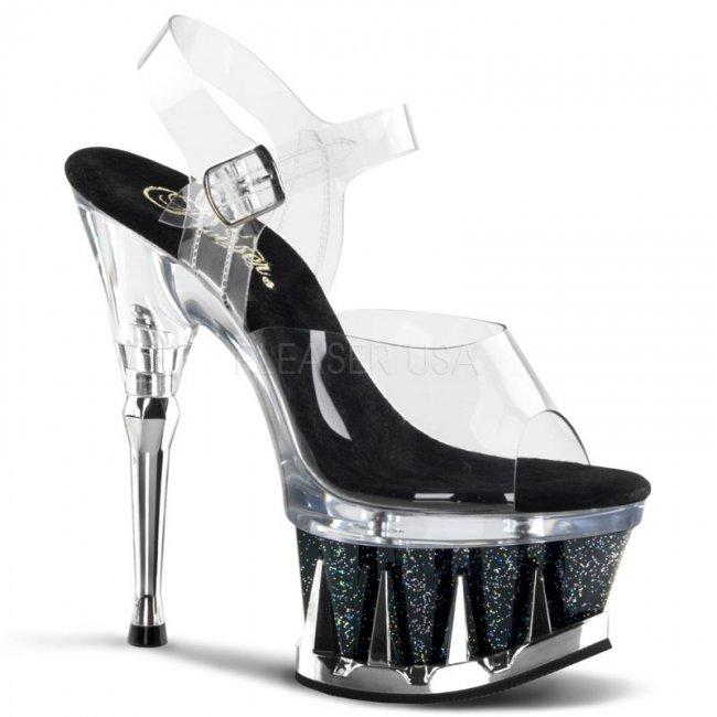 sandále s glitry Spiky-608mg-cbg - Velikost 41
