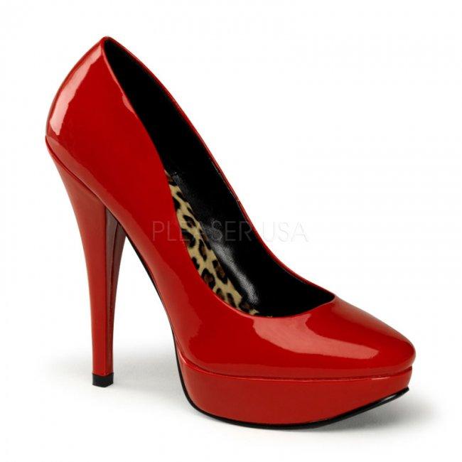 červené dámské lodičky Harlow-01-r - Velikost 36