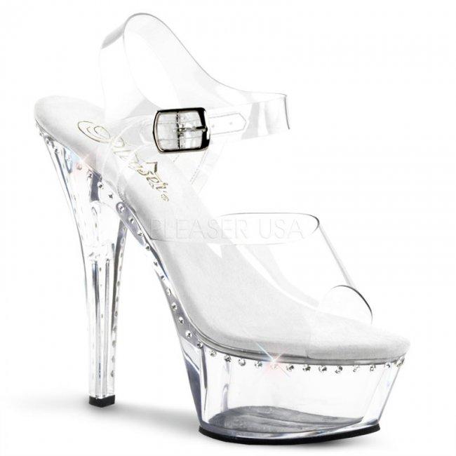 průhledné boty sandály Kiss-208ls-c - Velikost 36