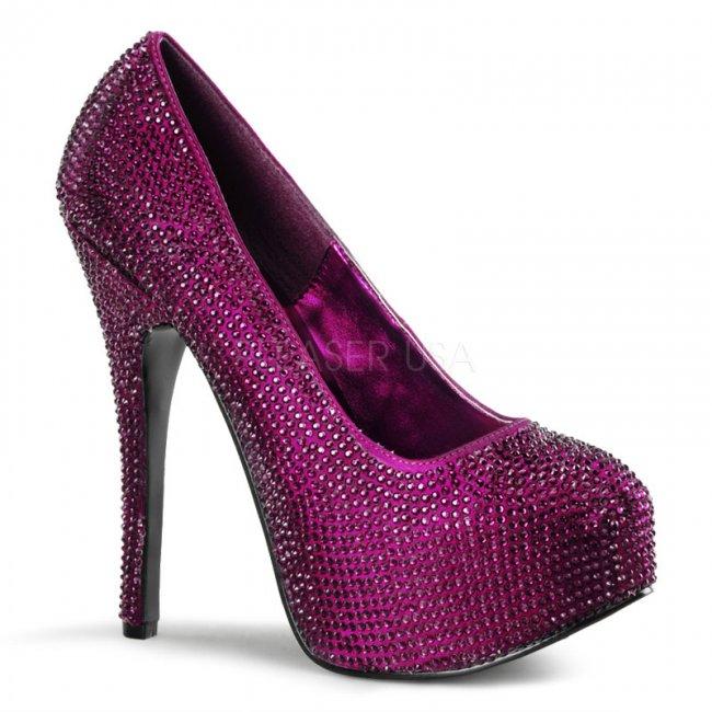 skvostné fialové lodičky Teeze-06r-ppsa - Velikost 40