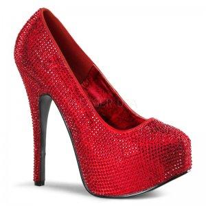 červené kamínkové lodičky Teeze-06r-r