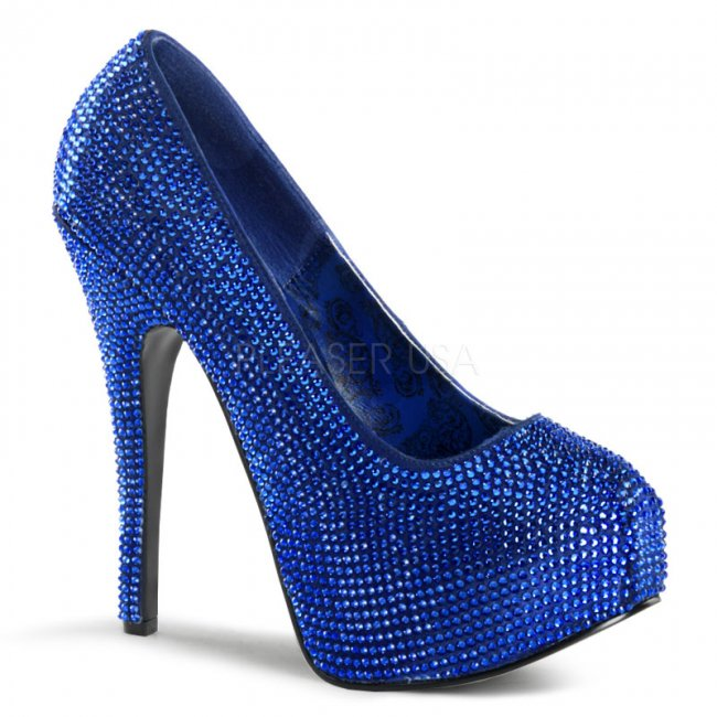 luxusní modré lodičky Teeze-06r-ryblsa - Velikost 36