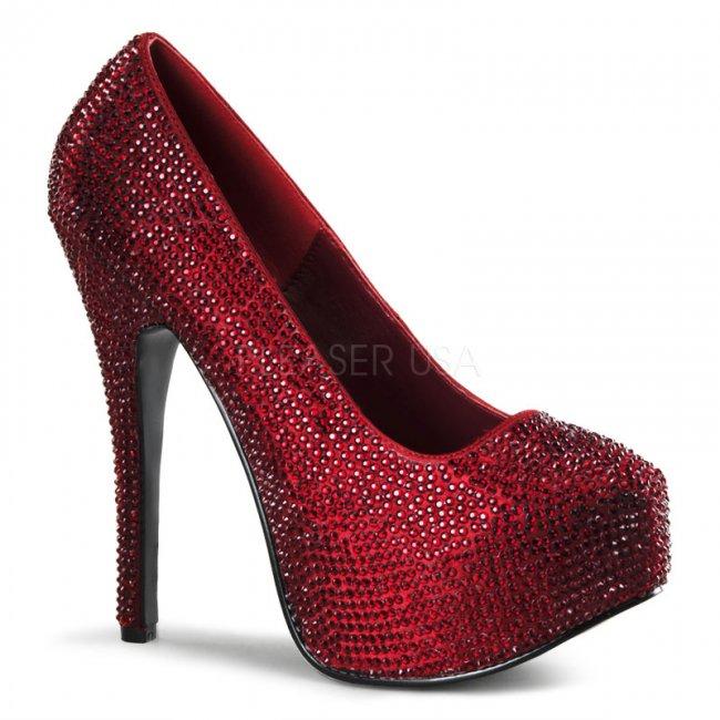 červené luxusní lodičky Teeze-06r-ryrsa - Velikost 39